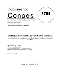 CONPES_3759_Modernización_Transporte_Automotor_de_Carga