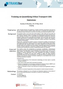 ITF - Training on Quanifying Urban Transport GHG Emissions